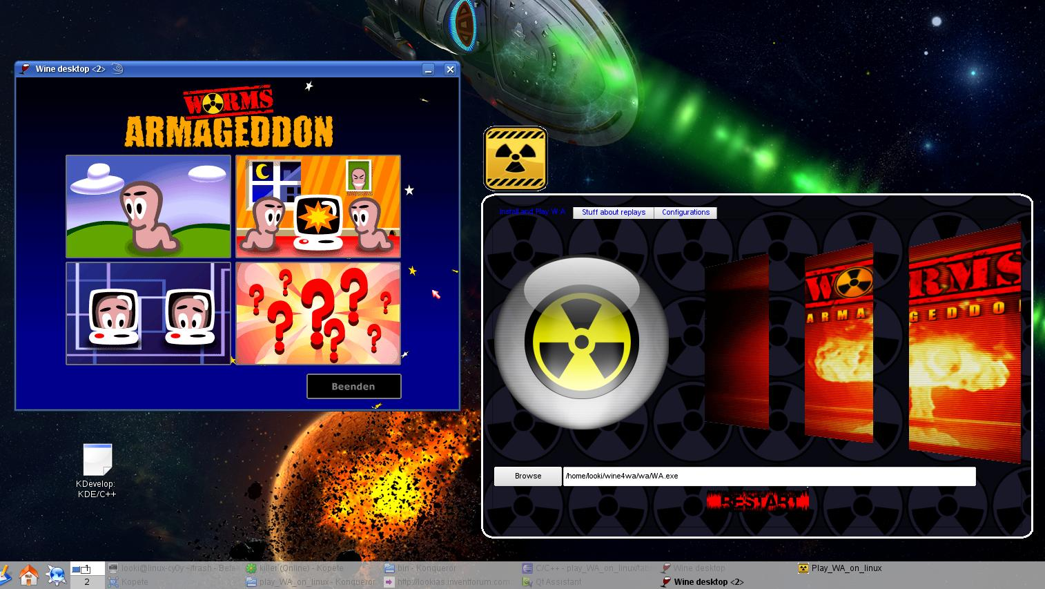 Play Worms Armageddon on Linux screenshot