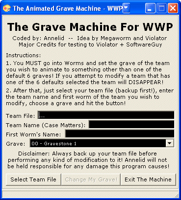 Animated Grave Machine screenshot