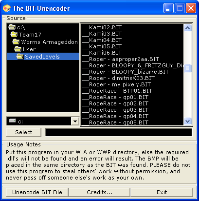 BitUnencoder screenshot