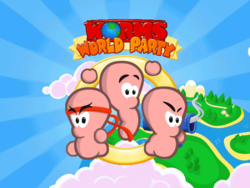 Worms World Party's title screen