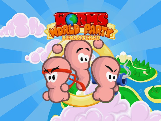 Worms World Party Remastered's title screen