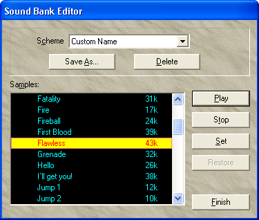 SoundBank Editor screenshot