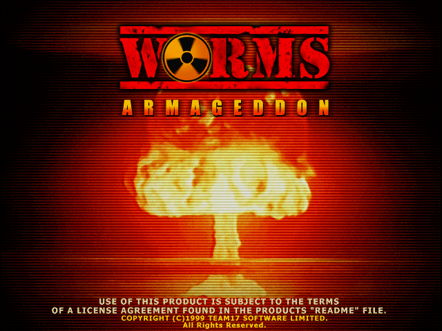 Worms Armageddon title screen