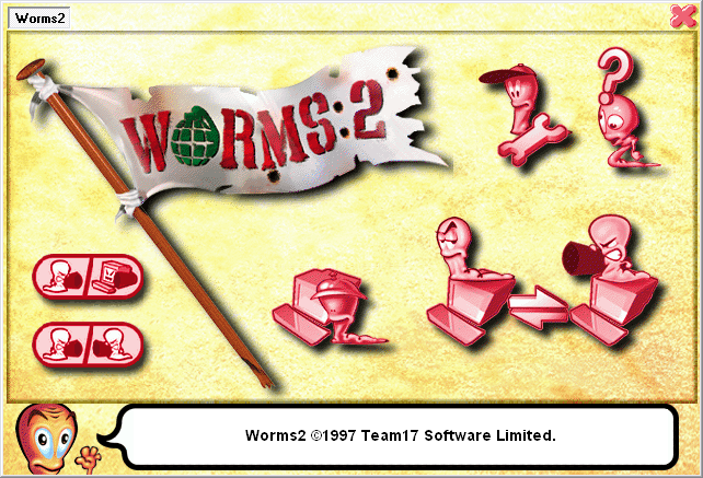 Worms 2 front-end screenshot
