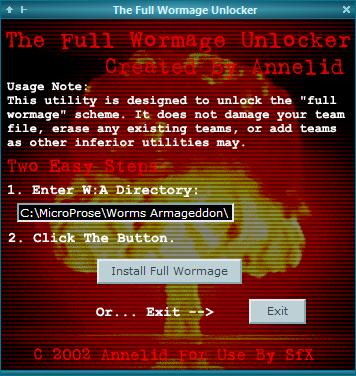 worms armageddon cheats